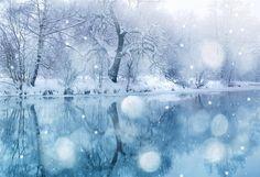 Winter Lake Snowflake Backdrop - 20(W)X10(H)FT(6X3M)