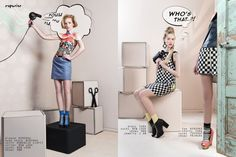 LIFE'S LIKE A CARTOON - Fashion Editorial by CATH HERMANS