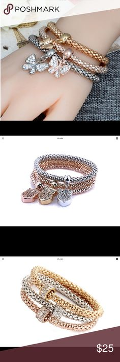 Fashion 3 color Butterfly bracelets Cute fun light new Jewelry Bracelets
