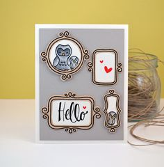 Hello Handmade Card by paperCARDinal on Etsy