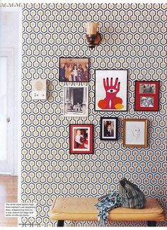 One of my favorites...I had this in my TV room along with concrete walls...I never got tired of it and would do it again!!! wallpaper, wallpaper!