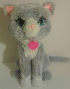 f97e67611a8a FurReal Friends Cat Bootsie Plush Pet Kitty Gray sitting 2016. PlushiesStuffed  ToysStuffed Animals