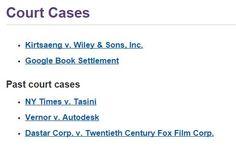 Copyright Court Cases