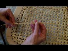 Weaving A Cane Seat Using the 7 Step Method - YouTube