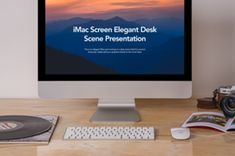 A new iMac psd mockup scene set to showcase any product designs. You can add your own graphics thanks to the... Pouch Packaging, Ui Kit, Letterhead, Mockup, Scene, Scale Model