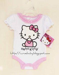 Hello Kitty Baby Romper    Size: 0-3 months, 3-6 months, 6-12 months, 12-18 months,8-24 months   Price: $10.50