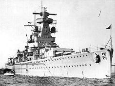Admiral Graf Spee was a Deutschland-class heavy cruiser or pocket battleship that entered service with the Kriegsmarine in 1936. With the outbreak of World War II, Admiral Graf Spee began commerce raiding in the Atlantic. Hunted by the Royal Navy, Admiral Graf Spee was damaged at the Battle of the River Plate in December 1939 and scuttled a short time later.