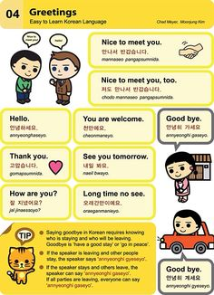 4. Greetings  An Illustrated Guide to Korean by  Chad Meyer and Moon-Jung Kim