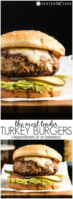 This recipe teaches you how to cook the most tender and juicy TURKEY BURGERS with five ingredients in ten minutes.
