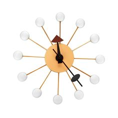 Add a splash of dotted color to your home with the Dot Wall Clock. Lightweight and easy to hang, it's constructed from beech wood with a quartz-powered movement that will keep ticking for years to come...  Find the Dot Wall Clock, as seen in the Mid-Century Classics Collection at http://dotandbo.com/collections/mid-century-classics?utm_source=pinterest&utm_medium=organic&db_sku=DBI1009-WHT