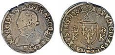1 SILVER TESTÓN/PLATA. CHARLES IX FRANCE-CARLOS IX FRANCIA. BAYONNE 1568. VF/MBC