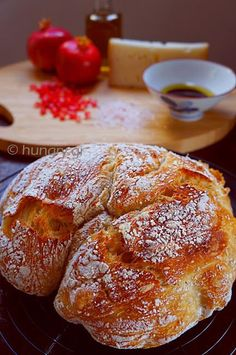 No Knead Bread, No Knead Bread Recipes Knead Bread Recipe, No Knead Bread, Bread Bun, Bread Cake, Yummy Food, Tasty, Greek Recipes, Relleno, Food Processor Recipes