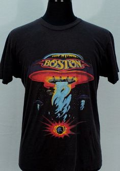 Vintage Boston 1987 Tour Concert T Shirt Super Soft Thin Rock 80s Medium | eBay