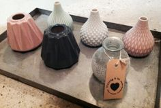 Pastel | Vaasjes | Industrial | Grey | Powder Pink |  House Doctor | Spring Summer 2014 | Styling & Co. | http://www.stylingandco.com/c-2271300/vazen-en-schalen/