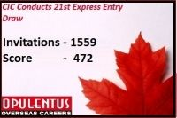 On 27th November 2015, at UTC 15:58:32, the CIC has made an announcement of 21st Express Entry Draw results. During the announcement of Express entry draw results, many have experienced relief as they have received an invite.