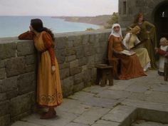 Download hd wallpapers of 155261-artwork, Medieval, Edmund_Blair_Leighton. Free download High Quality and Widescreen Resolutions Desktop Background