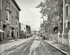 "Portsmouth, New Hampshire, circa 1910. ""Congress Street."" 8x10 inch dry plate glass negative, Detroit Publishing Company."