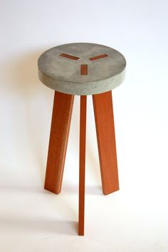 Y Concrete Stool by VerteXdesignstudio on Etsy