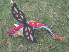 Victor LeFey- DragonSown Fabric Plush Dragon, Handmade Stuffed Animal Toy