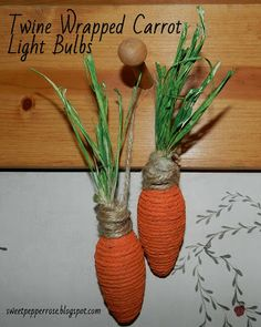 SweetPepperRose: Twine Wrapped {Carrot} Light Bulbs