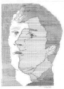 Autoportrait Daniel GOUARD Création de Graphiques a la Machine Ecrire (33 X 43)