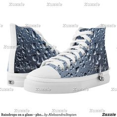 Raindrops on a glass - photo impression. High-Top sneakers Glass Photo, Painted Shoes, Rain Drops, Custom Sneakers, On Shoes, Converse Chuck Taylor, High Tops, High Top Sneakers, Pairs