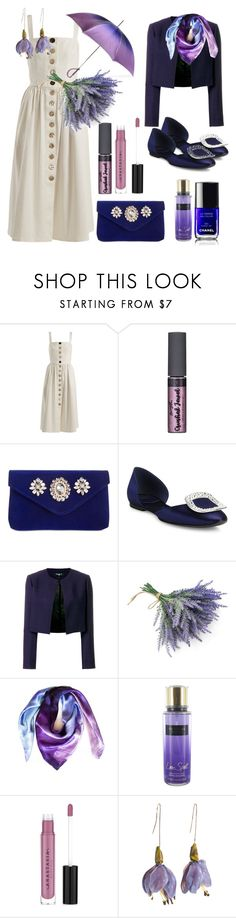 """""""Saturday outfit"""" by tinakriss ❤ liked on Polyvore featuring Albus Lumen, INC International Concepts, Roger Vivier, Paule Ka, Nearly Natural, Leona Lengyel, Victoria's Secret, Chanel, Anastasia Beverly Hills and Black"""