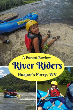 A parent review of River Riders whitewater rafting and zip line canopy tour in Harper's Ferry, West Virginia. Located 90 minutes outside Washington DC