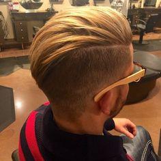 Angular Haircut, with volume on top.