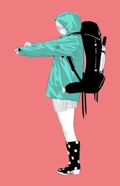 Anime girl..illustration