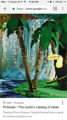 Good for Rainforest, tropical, waterfall, Jungle theme Jungle Party, Safari Party, Jungle Safari, Safari Theme, Off The Map, Vbs Crafts, Vacation Bible School, Tropical Party, The Jungle Book