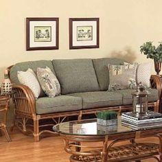 Antigua Sofa by Boca Rattan – ShopWixer Rattan Sofa, Rattan Furniture, Home Decor Furniture, Furniture Makeover, Diy Home Decor, Furniture Design, Wicker, Sofa Design, Interior Design