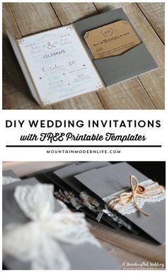 Free wedding invitation template pinterest diy wedding free printable wedding invitation template solutioingenieria Image collections