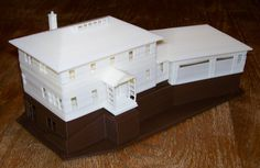 Our Next Home- a 3D printed model-- you can lift up the roof and see inside.