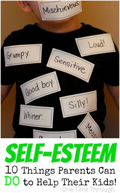 Self-Esteem: 10 Things Parents Can DO
