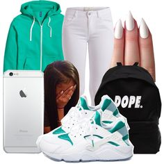A fashion look from October 2015 featuring H&M jackets, Pieces pants and NIKE sneakers. Browse and shop related looks.