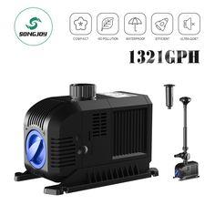 Intelligent Songjoy 52 Gph Submersible Water Pump Aquarium Fish Tank Fountain Pump Hydroponi Pumps (water) Pet Supplies