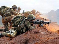 French Foreign legionnaires skirmish