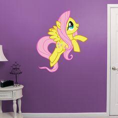Fluttershy REAL.BIG. Fathead – Peel & Stick Wall Graphic   My Little Pony Wall Decal   Kids Decor   Bedroom/Nursery/Playroom