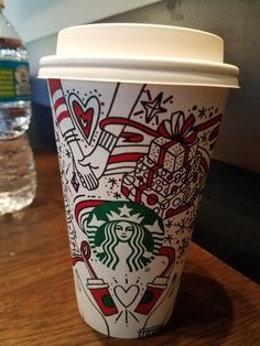 innovates on its annual holiday red cups with interactive coloring versions! now they just need to make colored pens/crayons available. Hot Coffee, Coffee Cups, Crayons, Pens, Starbucks, Coloring, Holiday, How To Make, Coffee Mugs