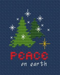 Cross Stitch Embroidery Give me love, give me peace on earth, give me light, give me life George Harrison - Cross Stitch Christmas Cards, Xmas Cross Stitch, Cross Stitch Needles, Cross Stitch Cards, Christmas Cross, Counted Cross Stitch Patterns, Cross Stitch Designs, Cross Stitching, Cross Stitch Embroidery