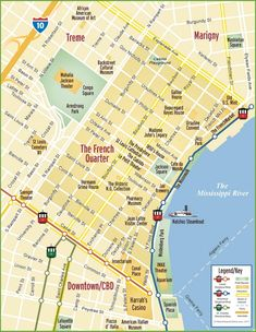 29 Best New Orleans Map images   Illustrated maps, Cartography, City