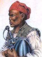Estevanico, the first Black man in North America was born around 1500 in Azemmour, on the Atlantic shore of Morocco and originally named Mustafa Zemmouri. He could probably read and write, spoke fluent Arabic and Latin plus Spanish and Portuguese. He was raised in the Muslim faith. In 1513, the Portuguese took control, capturing and selling some of the Africans to Europeans. The youth was sold to a Spanish nobleman named Andrés de Dorantes de Carranza, baptized into the Catholic Church.