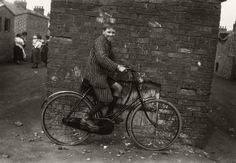 The County Durham mining village of Wheatley Hill from the documented by a member of the community. Coal Mining, Vintage Photography, Bicycles, Mary, Painting, Painting Art, Paintings, Bicycle, Retro Photography