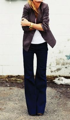 Repinning, because I want to rock this look this fall! I need wide leg pants like these!