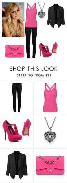 """Sharpay Evans"" by charmedgreys ❤ liked on Polyvore featuring Yves Saint Laurent, Valentino and Chanel"