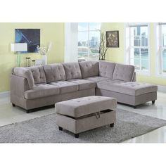 Farley Sectional Color: Beige, Orientation: Right Hand Facing - http://sectionalsofaspot.com/farley-sectional-color-beige-orientation-right-hand-facing-700443182/