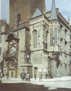 Prague Old Town Hall and Astronomical Clock, Jan Vilím, 1896 Budapest, Prague Old Town, Prague Czech Republic, Heart Of Europe, Town Hall, Old Photos, Barcelona Cathedral, Cool Pictures, Castle