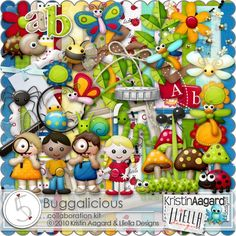 After Five Designs::Collab Kits::Buggalicious, by Kristin Aagard and Lliella Designs