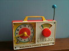 fisher price radio end 60ties